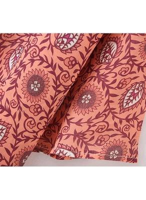 Fashion Chiffon Allover Print Front Open Women's Loose Long Thin Kimono_7