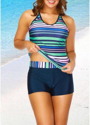 2xl Women Tankini Set Spaghetti Strap Sleeveless Bathing Suit Beach Swimwear_1