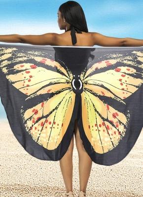 Women Summer Print Long Kimono Cardigan Elegant Loose Beach Cover Up Outwear_2
