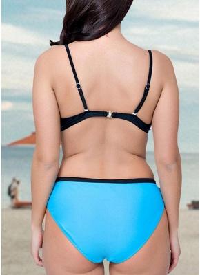 Swimsuit Backless Underwire Low Waist Bottoms Push Up Sexy Bikini_7