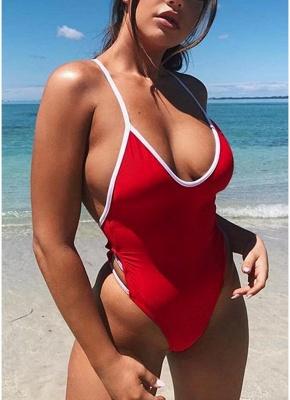 Women One Piece Swimwear Bandage Monokini Backless Swimsuit Beach Wear_1