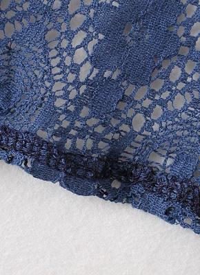 Cardigan en mousseline de soie d'été imprimé floral évider Kimono féminin_8