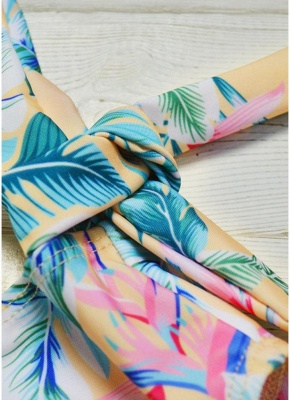 Printed Padded Hollow Out Monokini Bathing Suit_8