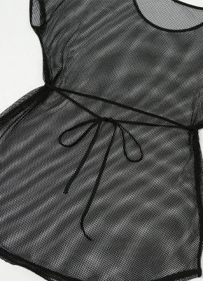 Women Plus Size Cover Up Net See Through Sexy Bikini Beach Dress Wear_4