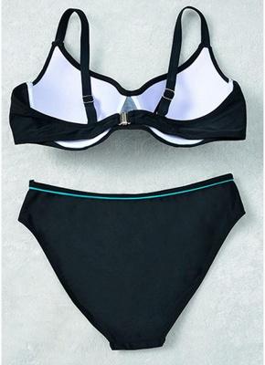 Ensemble de bikini rembourré à armatures et grande taille_8