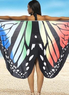 Women Summer Print Long Kimono Cardigan Elegant Loose Beach Cover Up Outwear_1