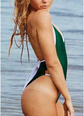 Women One Piece Swimwear Bandage Monokini Backless Swimsuit Beach Wear_5