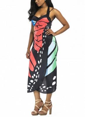 Women Summer Print Long Kimono Cardigan Elegant Loose Beach Cover Up Outwear_4