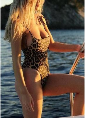 Sexy Women One Piece Swimsuit Swimwear Print Bodysuit Bandage Beach Wear Bathing Suit Backless Monokini_4