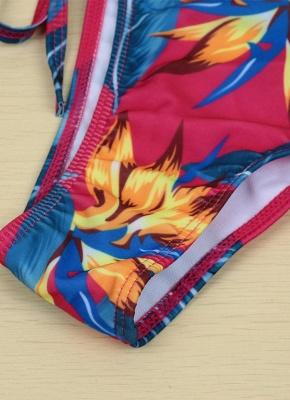 Floral Print Halter Wireless Padded Two Piece Sexy Bikini Set Swimwear_10