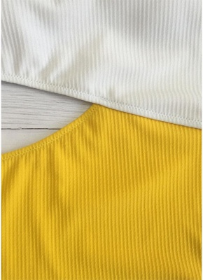 Une épaule Color Block Cutout Monokini Sexy femmes une pièce_3