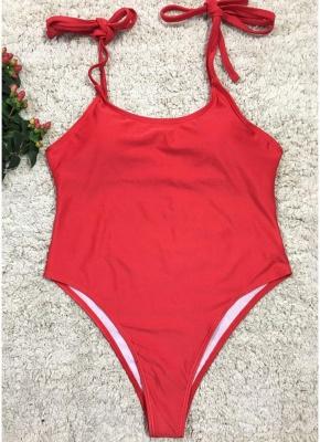 Sexy Women One Piece Swimsuit Swimwear Print Bodysuit Bandage Beach Wear Bathing Suit Backless Monokini_1