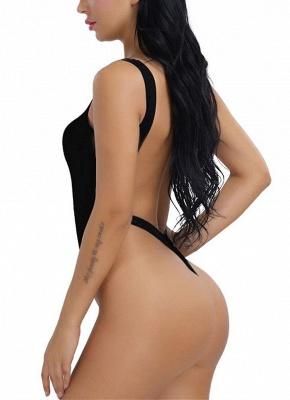 Women One Piece Push Up Sexy Bikini Swimwear Monokini High Cut Backless Bodysuit_6