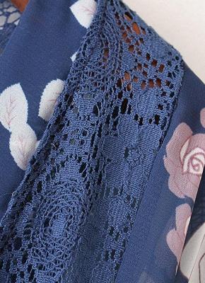 Cardigan en mousseline de soie d'été imprimé floral évider Kimono féminin_6