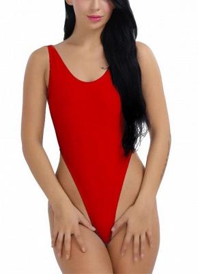 Women One Piece Push Up Sexy Bikini Swimwear Monokini High Cut Backless Bodysuit_1