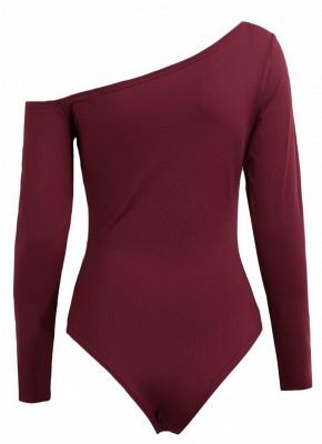One Shoulder Long Sleeve Stretchy Bodysuit_6