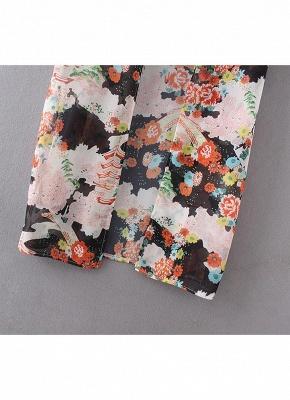 Bikini Cardigan en mousseline de soie d'été couvrez-vous imprimé Kimono Boho Long femmes_9