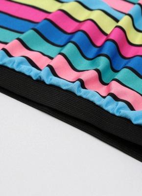 Stripe Halter Plus Size Swimsuit_6