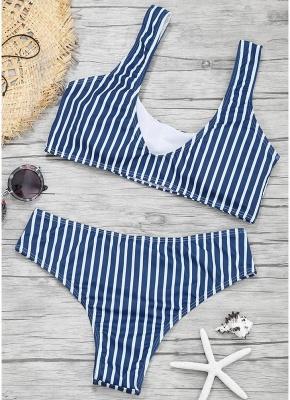 Women Color Block Bikini Set Push Up Padded Swimsuit Swimwear Bathing Suit_3