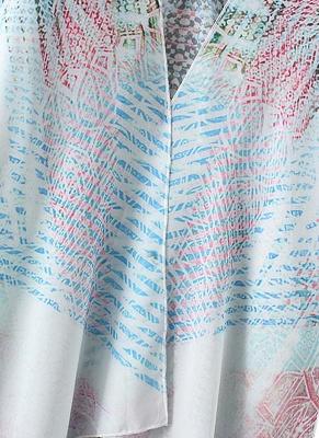 Women Chiffon Cardigan Gradient Print Kimono_9