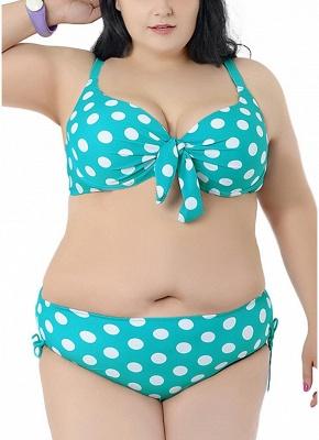 Plus Size Polka Dot Knot Sexy Bikini Set_5