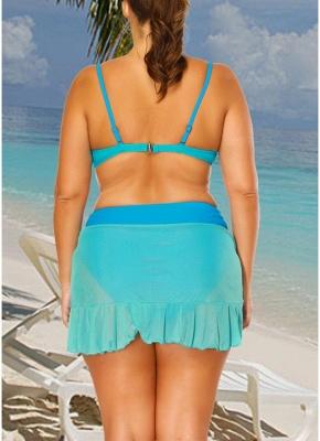 r Block Asymmetrical Ruffles Hem Bikini Set_3