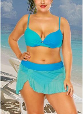 r Block Asymmetrical Ruffles Hem Bikini Set_4