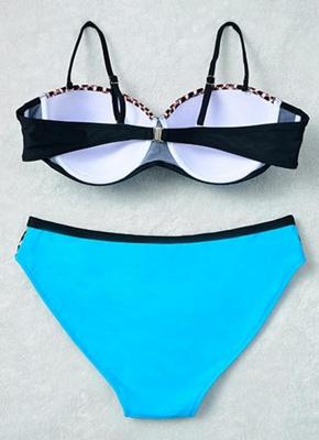 Swimsuit Backless Underwire Low Waist Bottoms Push Up Sexy Bikini_9