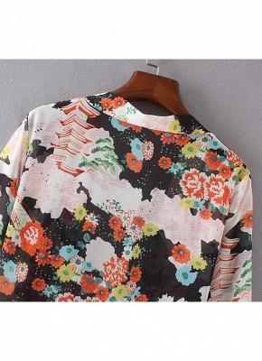 Bikini Cardigan en mousseline de soie d'été couvrez-vous imprimé Kimono Boho Long femmes_7