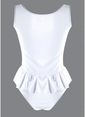 Women One Piece Swimwear Ruffle Monokini Swimsuit Brief Cut Solid Bathing Suit_4