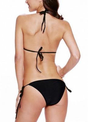 Stripe Nude Illusion Halter Tie Back Sexy Bikini Set_4