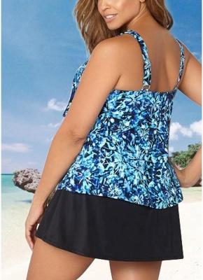 Women Plus Size Floral Sexy Bikini Set Swimsuit Skirt Brief Swimwear Bathing Suit_3