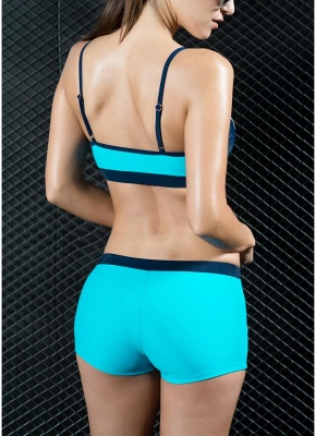 Sports Splicing Professional Racing Two Piece Swimsuit_7