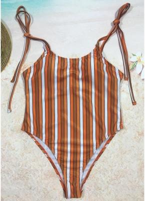 Sexy Women One Piece Swimsuit Swimwear Print Bodysuit Bandage Beach Wear Bathing Suit Backless Monokini_2