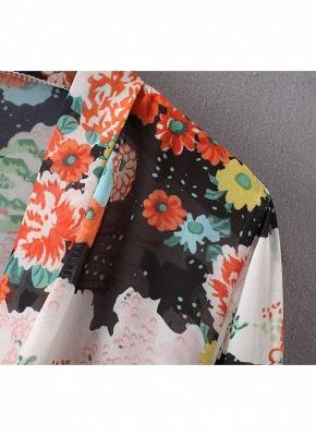 Bikini Cardigan en mousseline de soie d'été couvrez-vous imprimé Kimono Boho Long femmes_6