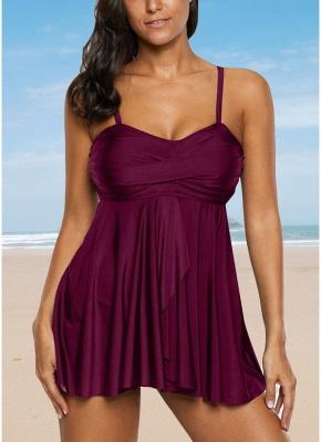 Women Sexy Bikini Set Strappy Ruched Wireless Bathing Suit Beach Wear Two Piece_1