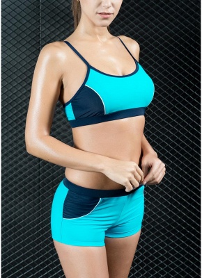 Sports Splicing Professional Racing Two Piece Swimsuit_6