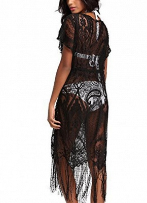 Women Swimsuit Lace Cover Up Tassel Bandage Holiday Beach Wear Swimwear Overall_3