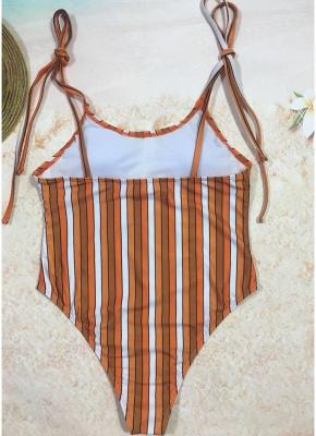 Sexy Women One Piece Swimsuit Swimwear Print Bodysuit Bandage Beach Wear Bathing Suit Backless Monokini_7