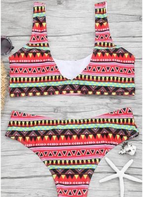 Women Color Block Bikini Set Push Up Padded Swimsuit Swimwear Bathing Suit_4