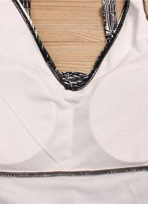 Women Plus Size Palm Leaf Tankini Set Boyshorts Two Piece Bathing Suits Swimwear_6