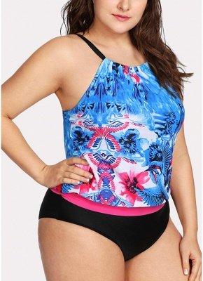 Women Padded Plus Size Swimsuit Push Up Printed Swimwear Bathing Suit_4