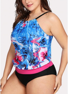 Women Padded Plus Size Swimsuit Push Up Printed Swimwear Bathing Suit_5