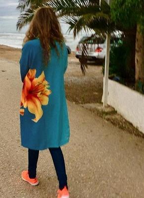 Women Chiffon Kimono Cardigan Beachwear_1