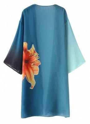 Women Chiffon Kimono Cardigan Beachwear_4