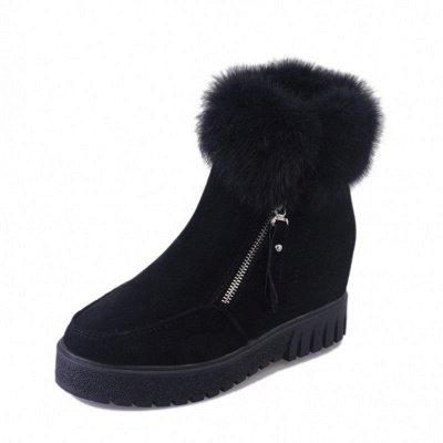 Zipper Fall Suede Chunky Heel Round Toe Boot_12