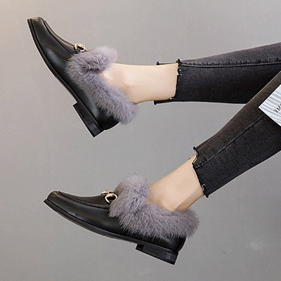 Chunky Heel Round Toe Casual Loafers_6