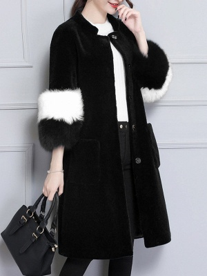 Embroidered Paneled Fur and Shearling Coat_2