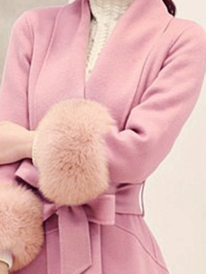 High Low Bow Asymmetric Solid Fur And Shearling Coats_10