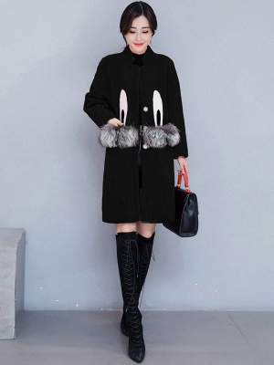 Pockets Fluffy Buttoned Fur and Shearling Coat_9